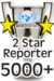 Wikinews 2 Star Reporter.png