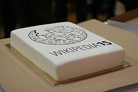 Wikipedia 15 in Warsaw - Cake 01.jpg