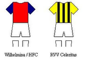 History of Feyenoord - Wilhelmina/HFC and RVV Celeritas kits