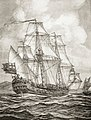 William Dampier aboard the HMS Roebuck surveys the New Guinea coast during the Roebuck Expedition of 1699.jpg