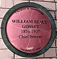 William Gosset plaque in Guinness storehouse tour, Ireland.jpg