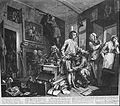 William Hogarth - A Rake's Progress, Plate 1, The Young Heir Takes Possession of the Miser's Effects - Google Art Project.jpg