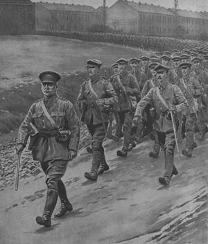 Willie Redmond - Redmond leading Irish troops during the First World War