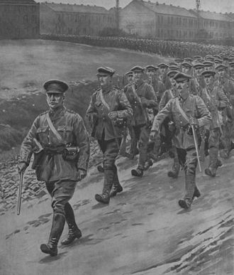 Willie Redmond - Redmond leading Irish troops during the First World War