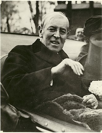 Twenty-second Amendment to the United States Constitution - Woodrow Wilson, pictured in 1923, deadlocked the Democratic convention in 1920, but was not nominated. He wished to run again in 1924, but lacked support and died before the convention.