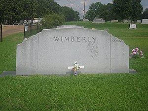 Lorris M. Wimberly - Wimberly family tombstone at Arcadia Cemetery