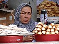 Woman Vendor in Central Food Market - Margilon - Uzbekistan - 02 (7551778828).jpg