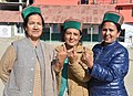 Women voters showing mark of indelible ink after casting their votes, at a polling booth, during the Himachal Pradesh Assembly Election, in Khwangi village, dist. Kinnaur, Himachal Pradesh on November 09, 2017.jpg