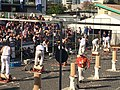Wood chopping competition, underhand cut, Ekka, Brisbane, 2015 01.jpg