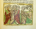 Woodcut illustration of Sulpicia, wife of Quintus Fulvius Flaccus, and the goddess Venus - Penn Provenance Project.jpg