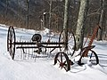 Woody's Knob; Antique Farm Equipment.JPG