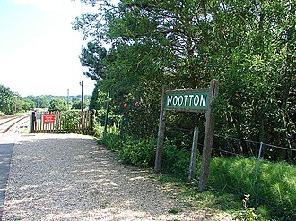 Wootton, Isle of Wight - Wootton station sign in June 2008.