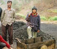 Workers Outside Coalmine