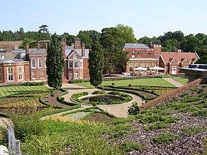 De Vere Wotton House - Wotton House, rear view showing terraced gardens, 2003