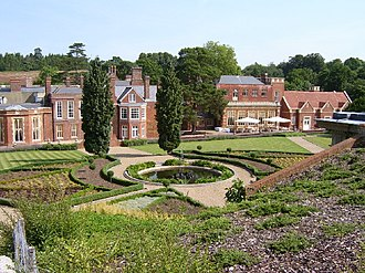 De Vere Wotton House - Wotton House, rear view showing terraced gardens, 2003
