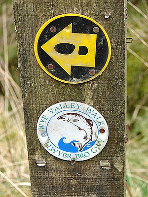 Wye Valley Walk - Waymark signs on the path