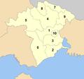 Xanthi municipalities numbered.png