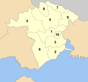 Xanthi municipalities numbered.png