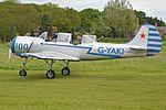 Yakolev Yak 52 'G-YAKI - 100 blue' (32976893511).jpg