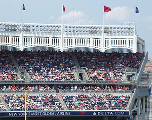 Yankee Stadium - The iconic frieze that lined the roof of the original Yankee Stadium from 1923 to 1973 is replicated on the current stadium's roof