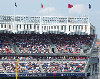 Frieze - The frieze lining the roof of Yankee Stadium