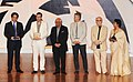 Yash Chopra with the International Juries, Mr. Jerzy Antczak, Mr. Mick Molloy, Mr. Olivier Père, Mrs. Revathy Menon, Sturla Gunnarsson at the inaugural ceremony of 41st International Film Festival (IFFI-2010) at Kala Academy.jpg