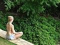 Yoga Pose with Foliage - Laguna de Apoyo - Near Granada - Nicaragua (31971645315) (2).jpg