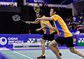Yonex IFB 2013 - Quarterfinal - Sudket Prapakamol - Saralee Thungthongkam vs Kenichi Hayakawa - Misaki Matsutomo 01.jpg