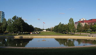 York University - Reflecting pool in the Harry W. Arthurs Common