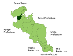 Location of Yosano in Kyoto