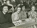 Young ladies pictured at the cricket, Brisbane (4903192825).jpg