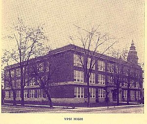Ypsilanti High School - Ypsilanti High School c. 1922