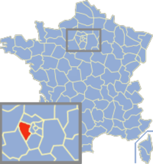 Communes of the Yvelines department - Image: Yvelines Position