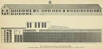 Zadock Pratt - A drawing of Pratt's tannery from 1844.