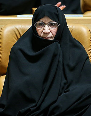 "Zahra Mostafavi Khomeini - In the conference of ""Commemoration of Lady of Islamic Republic""."