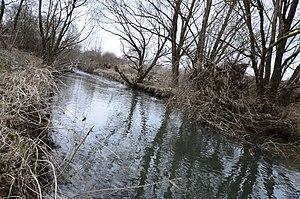 Zala (river) - Zala river at Csácsbozsok locale of Zalaegerszeg city, Zala county, Hungary