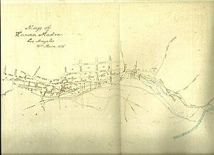 Zanja Madre - 1888 map of the Zanja Madre