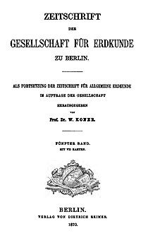 Zeitschrift der Gesellschaft für Erdkunde zu Berlin 1870 Titel.jpg
