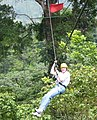 Zip-line over rainforest treetops 15 March 2002, Costa Rica.jpg