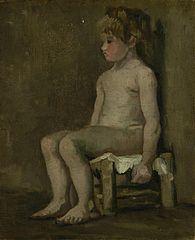 Nude Girl, Seated