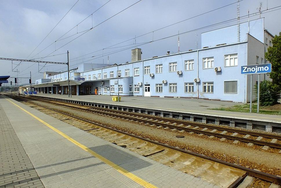 Znojmo,železniční stanice
