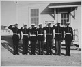 """... Although a dress uniform is not a part of the regular equipment, most of the Negro Marines spend $54 out of their p - NARA - 535871.tif"