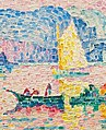 'Antibes. Petit Port de Bacon' by Paul Signac, 1917 (cropped).jpg