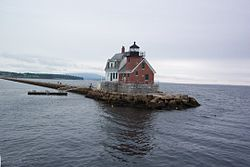 'Rockland Breakwater Lighthouse in Maine' by Tania Dey.jpg