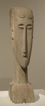 'Woman's Head', limestone sculpture by Amedeo Modigliani, 1912, Metropolitan Museum of Art.jpg