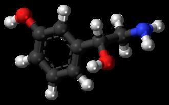 Norfenefrine - Image: (R) Norfenefrine molecule ball