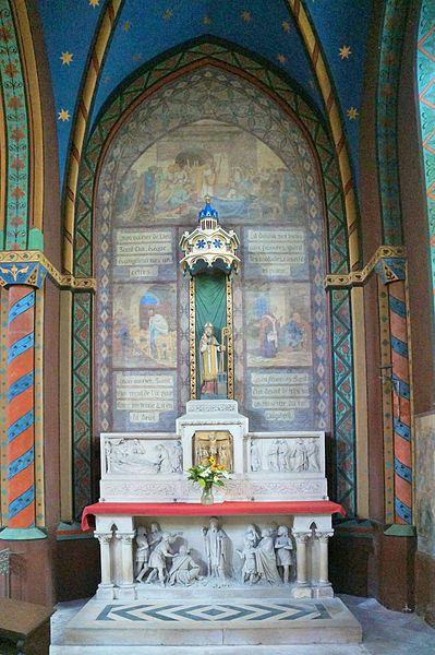 Fresnoy-le-Grand.- Aisne.- France. Église Saint-Éloi, la chapelle absidiale Saint Eloi
