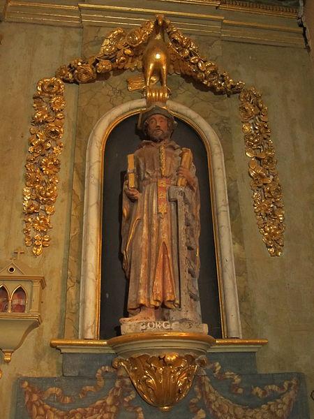 File:Église Saint-Ouen de Sideville - Statue Saint Gorgon.JPG
