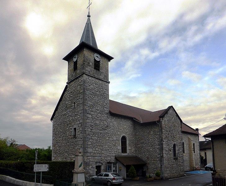 Church of La Balme, Savoie, Rhône-Alpes, France.