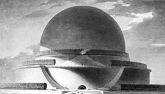 Rationalism (architecture) - Project for an Isaac Newton memorial by Étienne-Louis Boullée.